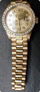 Ladies Rolex President, 18ky