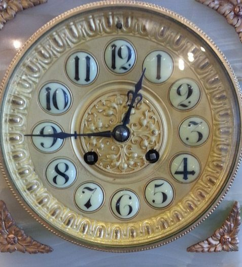Refinished French marble clock